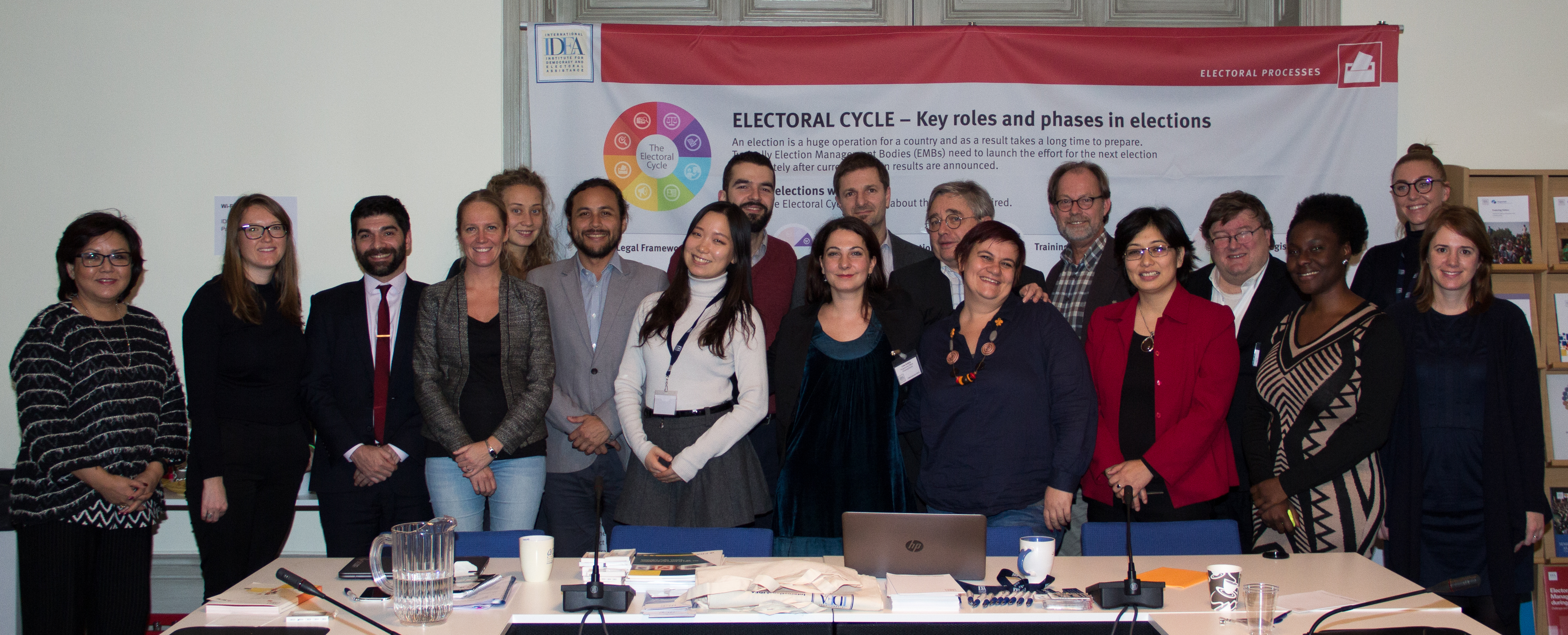 "Group photo of the ""Marginalized Groups in Electoral Processes"" workshop participants"