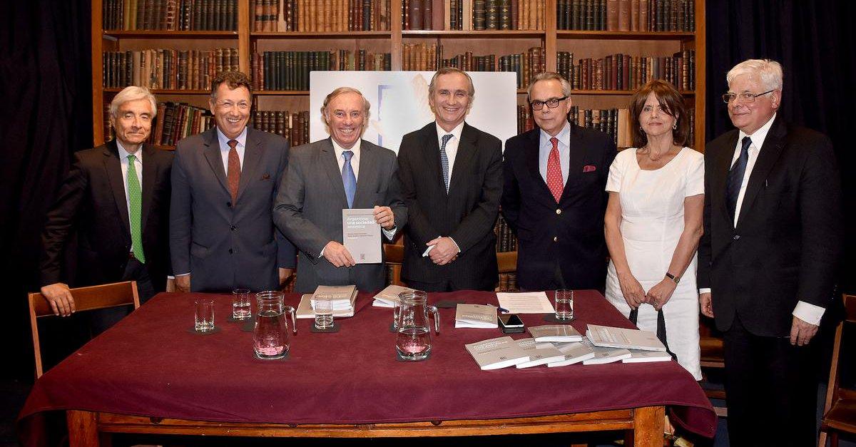 Left to right: Eduardo Fidanza, Alberto Dalla Via, Antonio María Hernández, Guillermo Lipera, Daniel Zovatto, Liliana de Riz, and Luis Alberto Romero