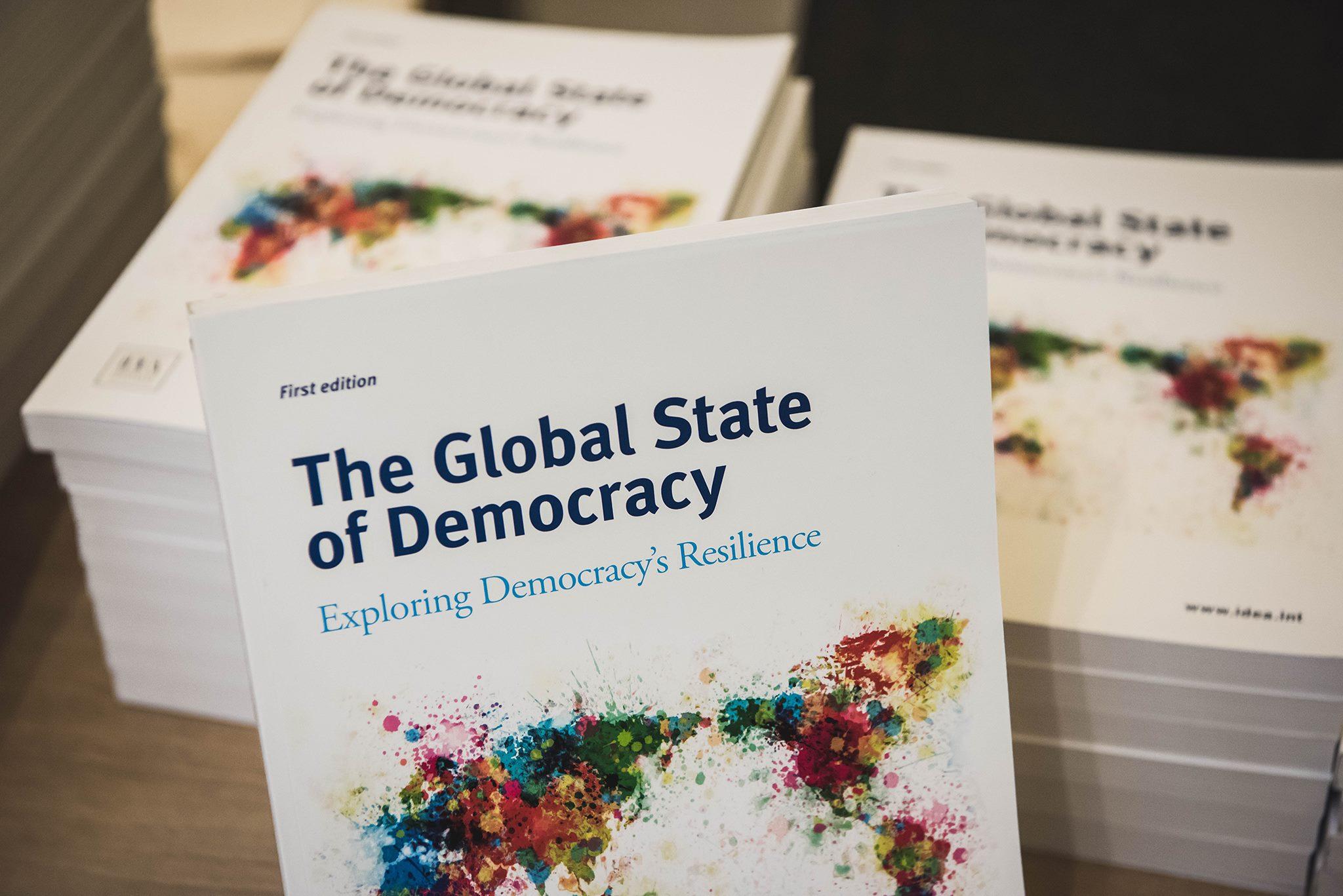The Global State of Democracy publication. Image: International IDEA /Stuudio Huusmann