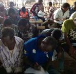 """Focus group with Somali refugees in Kakuma, Kenya, during the research for """"The Case of Somali and South Sudanese Refugees in Kenya"""""""