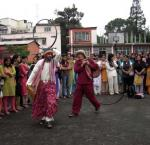 Five open-air theatre performances on federalism were held on different campuses in Kathmandu Valley