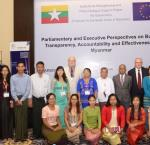 The conference was a joint effort between International IDEA, the European Union and the Joint Public Accounts Committee of the Pyidaungsu Hluttaw.  Photo: Giles Dickenson-Jones.