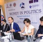 Expert panel during the Money in Politics Regional Conference in Tbilisi, Georgia, June 2017