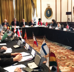 Representatives of Member States during International IDEA´s presentation of its regional strategy and work in Latin America and the Caribbean. Photo: International IDEA.
