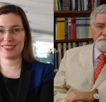 Dr Nicole Goodman (Image: Brook University) andDr Celso Lafer (Image: Brown University Library)