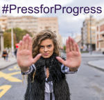 #PressForProgress. Photo credit: International Women's Day
