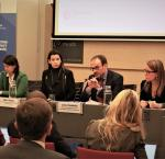 Roundtable on AI and democratic development. Image credit: Elisabeth Fluet-Asselin, International IDEA