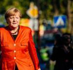 Angela Merkel walking
