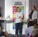 Still image screenshot from the panel discussion on Inclusive cities for refugees – Almedalen 2017
