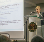 Professor Cheryl Saunders at the PH Constitution @30 Public Forum, University of the Philippines Cebu. (Photo © Nyla Prieto)