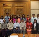 Members and staff of the Joint Public Accounts Committee of the Myanmar Parliament