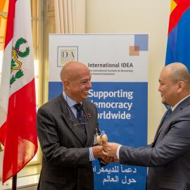 Mongolia hands over the Chairship of International IDEA to Peru for 2017
